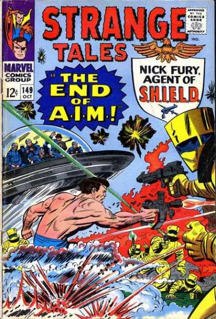 Strange Tales 149 - Nick Fury - Shield - The End Of Aim - Marvel Comics Group - Fight - Jack Kirby