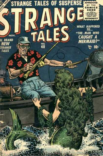 Strange Tales 40 - Mermaid - Fishing - Tales - Sea - Strange