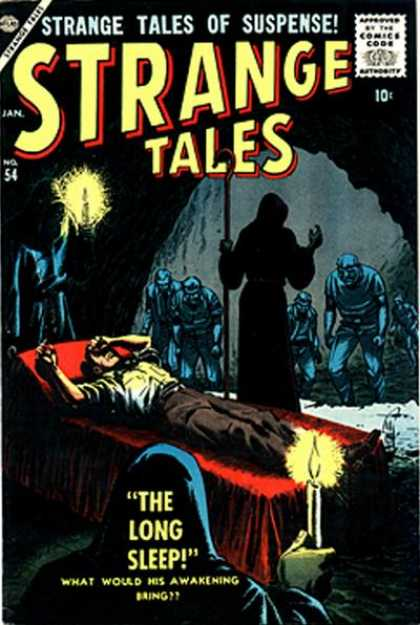 Strange Tales 54 - Strange Tales Of Suspense - Strange Tales - The Long Sleep - What Would His Awakening Bring - No 54 - Bill Everett