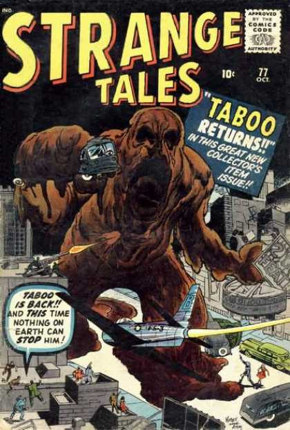 Strange Tales 77 - Taboo - October - Collectors Item Issue - City - Buildings