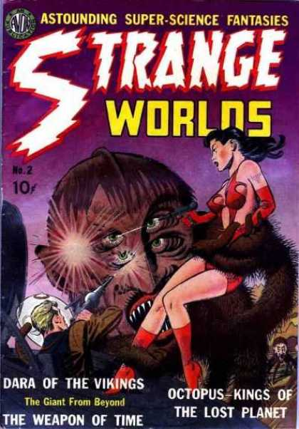 Strange Worlds 2 - Four-eyed Monster - Laser Pistol - Space Suit - Dara Of The Vikings - The Weapon Of Time
