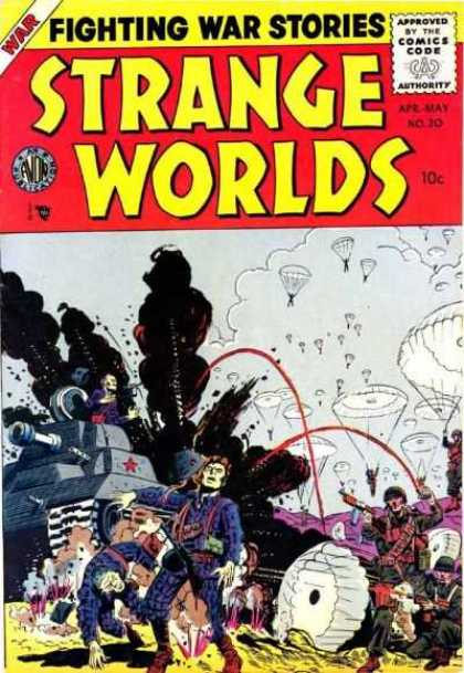 Strange Worlds 20 - War - Approved By The Comics Code - Fighting War Stories - Tank - Soldier