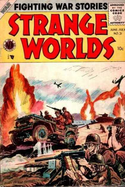 Strange Worlds 21 - Fighting - Fire - Army - Fighting War Stories - Planes