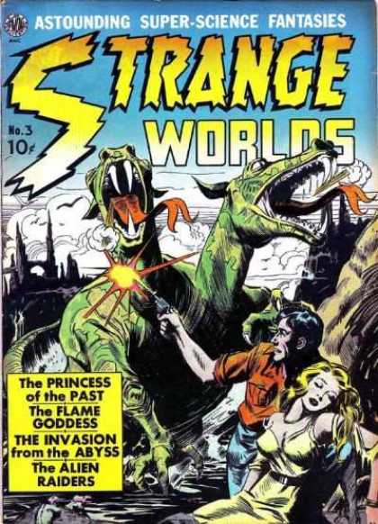Strange Worlds 3 - Astounding - Super-science - Fantasies - The Flame Of Goddess - The Alien Raiders - Jack Kirby