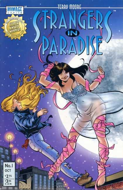 Strangers in Paradise 1 - Homage Comics - Eisner Award Winner - Terry Moore - Woman - Moon