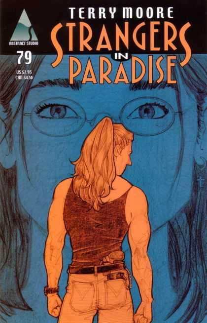 Strangers in Paradise 79 - Terry Moore - Abstract Studio - Man - Gun - Woman