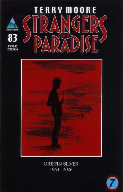 Strangers in Paradise 83 - Red - Black Outline - 83 - Terry Moore - Paradise