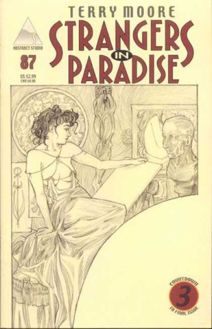 Strangers in Paradise 87 - Terry Moore - 87 - Countdown - Drawing - Studio - Brian Miller