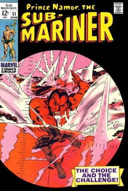 Sub-Mariner (1968) 11 - Prince Namor - Water - Choice - Challenge - Red - Gene Colan