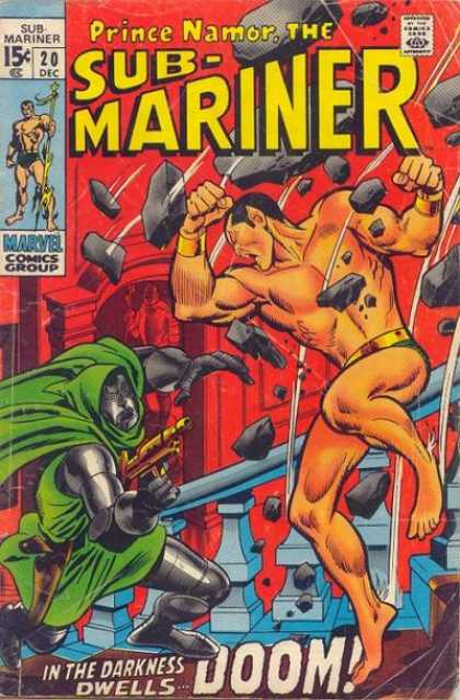 Sub-Mariner (1968) 20 - Prince Namor - Monster - Doom - Entertainment - Muscle - John Buscema