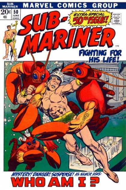 Sub-Mariner (1968) 50 - Danger - Suspense - Namor - 50th Issue - Who Am I