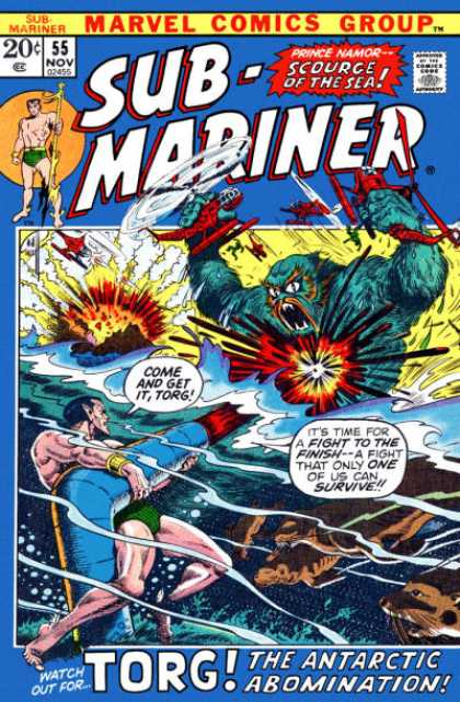 Sub-Mariner (1968) 55 - Sub-mariner - Scourge Of The Sea - Prince Namor - Torg - The Antarctic Abombination