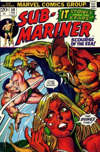 Sub-Mariner (1968) 58 - It Strikes From The Stars - Scourge Of The Sea - Come On In Namor-- - The Dyings Fine - Trident - Bill Everett