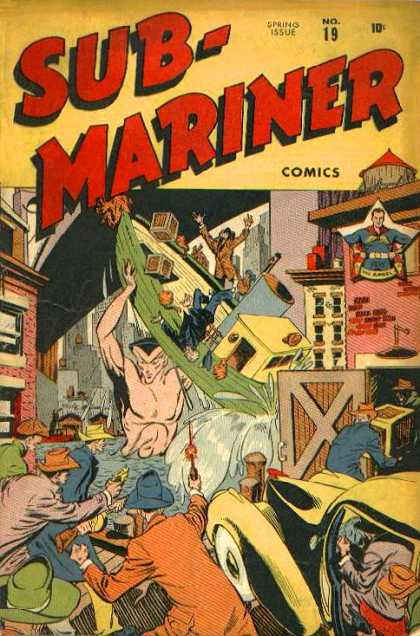 Submariner 19 - Boat - Buildings - Spring Issue - 10 Cents - Superhero