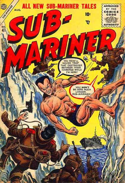 Submariner 41 - All New Tales - Guns - Cliffs - Snow - Approved By The Comics Code Authority