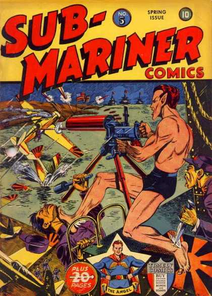 Submariner 5 - Spring Issue No 5 - Timely Comics - 20 Plus Pages - Shooting - Planes And Ships