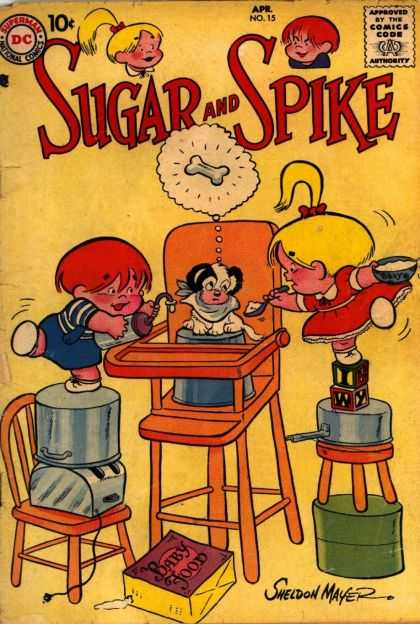 Sugar and Spike 15 - Boy - Girl - Puppy - Bone - High Chair