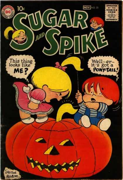 Sugar and Spike 25 - Pumpkin - Pony-tail - Jack Olantern - Sheldon Mayer - Red Hair