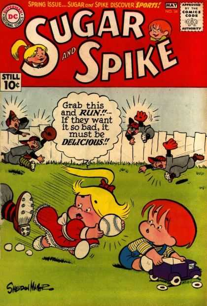 Sugar and Spike 34 - Dc - Blonde - Baseball - Mitt - Fence