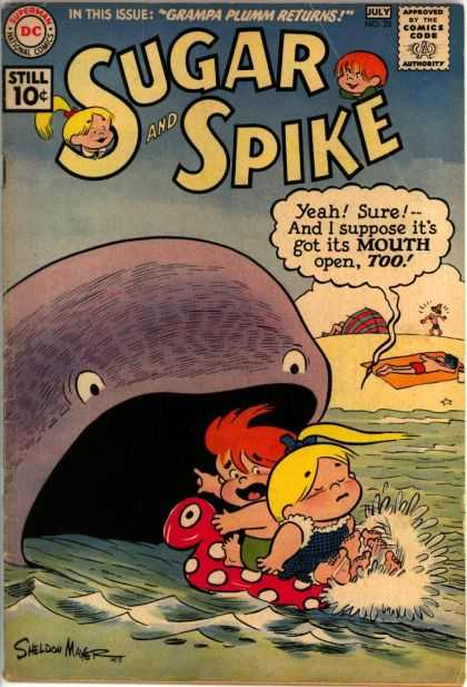 Sugar and Spike 35 - Dc Comics - Grampa Plumm Returns - Whale - Beach - Ocean