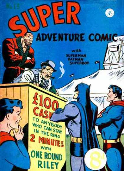 Super Adventure Comic 13 - Superman - Batman - Superboy - Circus - One Round Riley