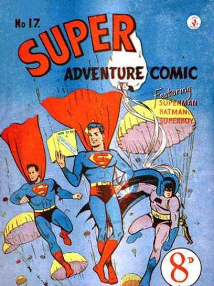 Super Adventure Comic 17 - Superman - Superboy - Batman - Parachutes - How-to Book