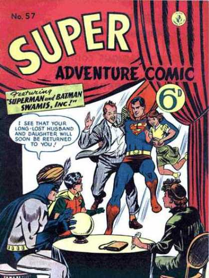 Super Adventure Comic 57 - Swamis Inc - Crystal Ball - Purse - Table - Chairs