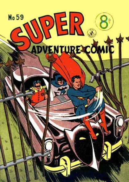 Super Adventure Comic 59 - Car - Steel - Peopel - Cape - Sword
