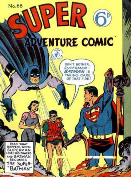 Super Adventure Comic 66 - Batman - Superman - Robin - Superbatman - No 66