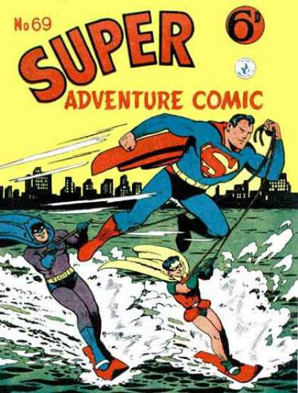 Super Adventure Comic 69 - Superman - Batman - Robin - Heroes - Adventure