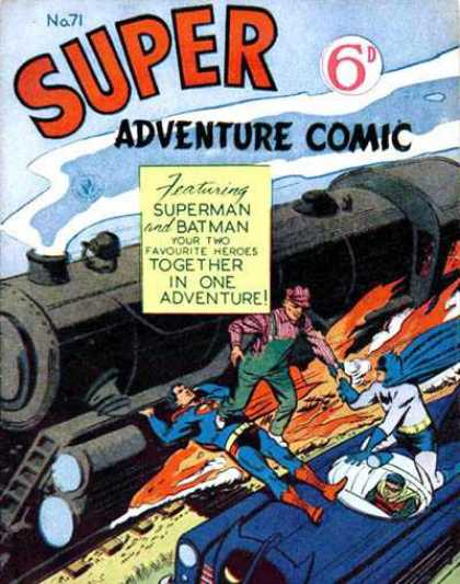 Super Adventure Comic 71 - Super Heros - Crazy Train - Saving People - Firer - Crashing