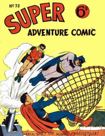 Super Adventure Comic 72 - Robin - Dc Comics - Superman - Detective Comics - Bateman