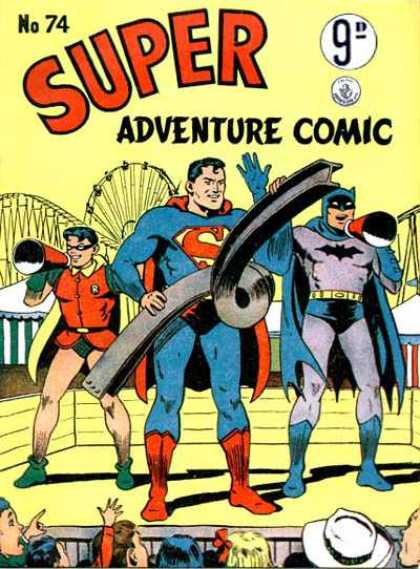 Super Adventure Comic 74 - Super Friends - Cross Over - Batman And Robin - Dc Comics - Issue Nine