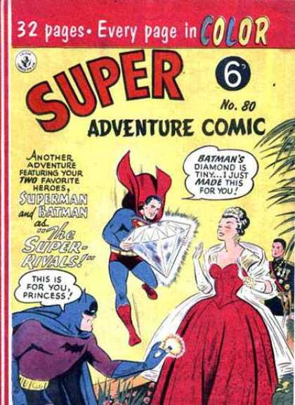 Super Adventure Comic 80 - Superman - Diamond - Tiara - Super Rivals - Princess