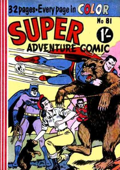 Super Adventure Comic 81 - Robin - Batman - Bear - Girl - Red Cape