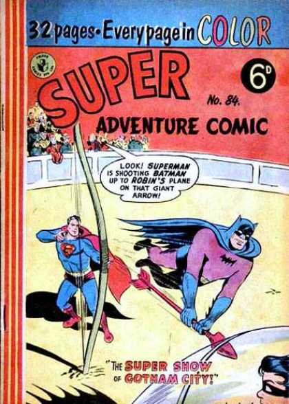 Super Adventure Comic 84 - Batman - Robin - Plane - Arrow - Show