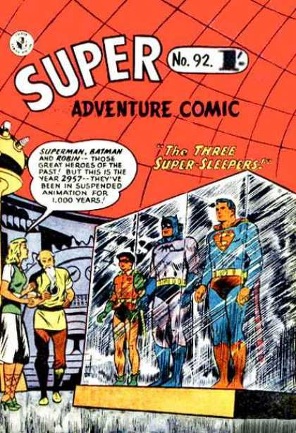 Super Adventure Comic 92 - Superman - Batman - Robin - Frozen - Super Sleepers