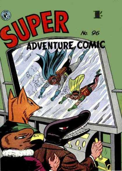 Super Adventure Comic 96 - Super Adventure Comic - No 96 - Batman - Robin - Scuba Diving