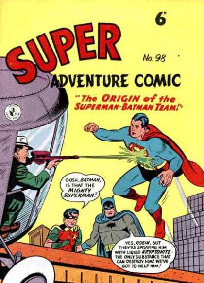 Super Adventure Comic 98 - The Origin Of The Superman-batman Team - Issue Number 98 - Superman - Batman - Robin