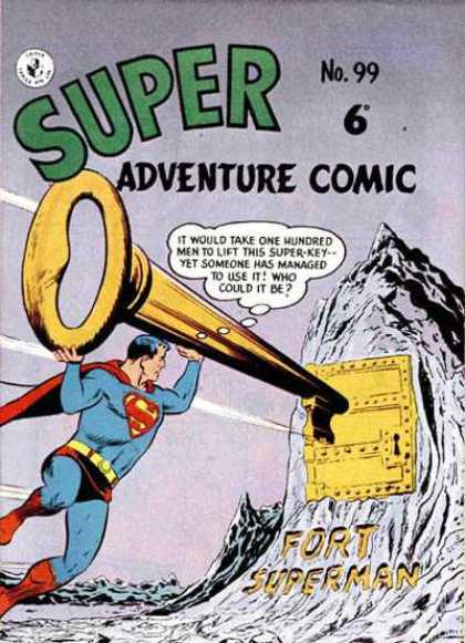 Super Adventure Comic 99 - Superman - Key - Golden - Lock - Fortress