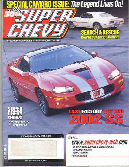 Super Chevy - April 2002