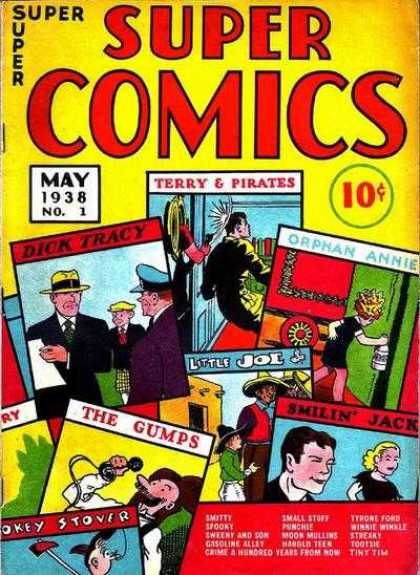 Super Comics 1 - Dick Tracy - Terry U0026 Pirates - The Gumps - Smiling Jack - Orphan Annie