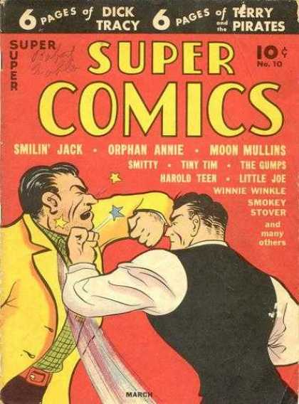 Super Comics 10 - Dick Tracy - Terry Pirates - Smilin Jack - Orphan Annie - No 10