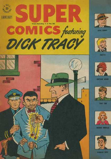 Super Comics 104 - Dick Tracy - Police - Jewelry - Handcuffs - Criminal