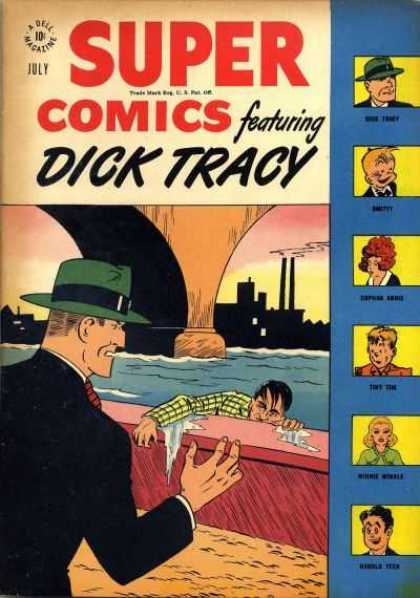 Super Comics 110 - Dick Tracy - July - River - Bridge - City