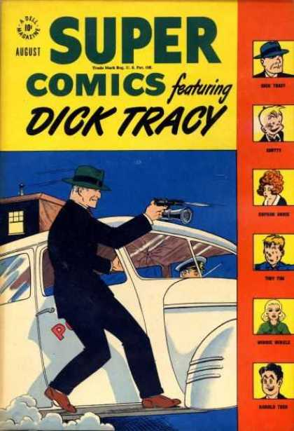 Super Comics 111 - August - A Dell Magazine - Dick Tracy - Car - Gun