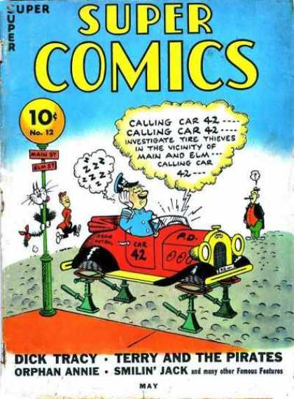 Super Comics 12 - Funny - Police - Crime - Famous - Confused