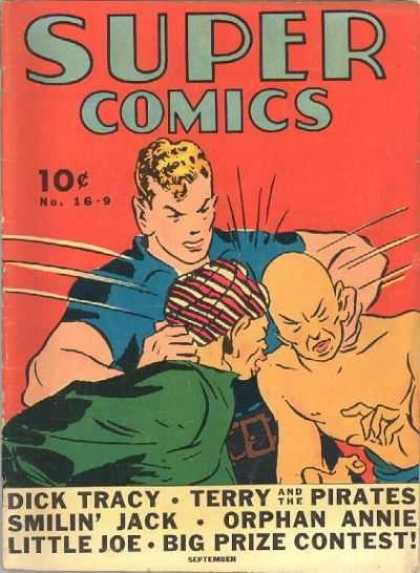 Super Comics 16 - 10 - Cents - Dick Tracy - Fight - Orphan Annie