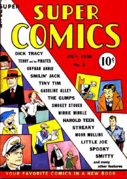 Super Comics 3 - Dick Tracy - Tiny Tim - Orphan Annie - Smilin Jack - Gasoline Alley