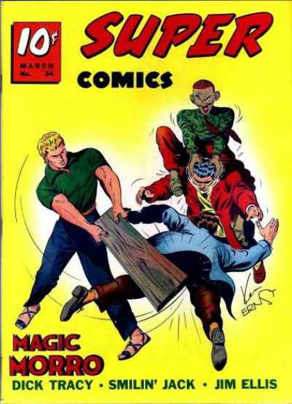 Super Comics 34 - Super - Hair - Plank - Fighting - Muscles